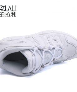 POLALI Brand Basketball Shoes Men High top Sports Air Cushion Jordan Hombre Athletic Mens Shoes Comfortable 3