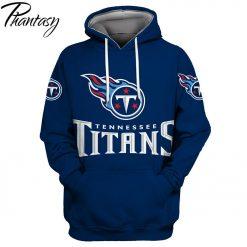 Phantasy 2020 New Fashion Autumn Hooded Sweatshirt Tennessee Titans Men s Tennessee American Football Sweatshirt