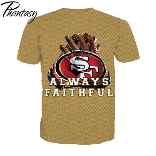 Phantasy 2020 San Francisco 49ers Casual Shirt Men Shirts Sport T shirts Men Tshirt American Football 1