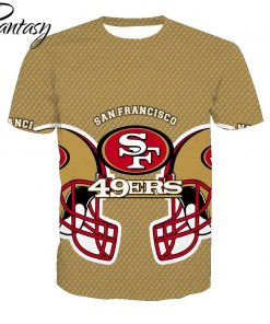 Phantasy 2020 San Francisco 49ers Casual Shirt Men Shirts Sport T shirts Men Tshirt American Football