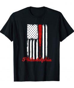 Philadelphia Baseball Flag T Shirt For Philly Baseball Fans