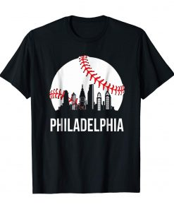 Philadelphia Downtown Baseball Philly Skyline T Shirt