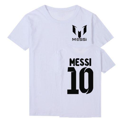Pkorli Barcelona MESSI Men T Shirt Cotton Short Sleeve Casual Men S T Shirts Summer Messi 1