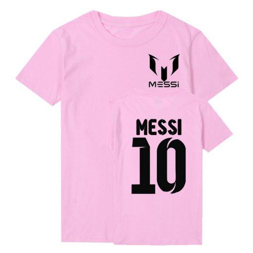 Pkorli Barcelona MESSI Men T Shirt Cotton Short Sleeve Casual Men S T Shirts Summer Messi 2