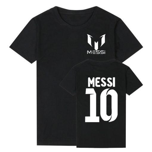 Pkorli Barcelona MESSI Men T Shirt Cotton Short Sleeve Casual Men S T Shirts Summer Messi