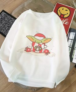 Pokemon Baby Yoda Shirt Aesthetic Harajuku Hoodies Sweatshirt Women Hoodies Women Kawaii Clothes Sweat Femme Thicken 3