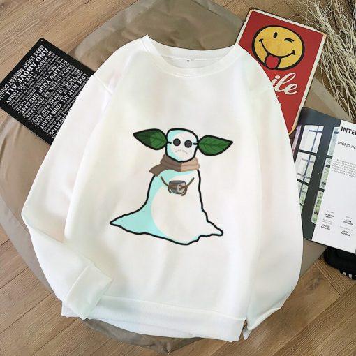 Pokemon Baby Yoda Shirt Aesthetic Harajuku Hoodies Sweatshirt Women Hoodies Women Kawaii Clothes Sweat Femme Thicken 5