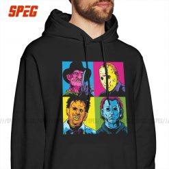Pop Horror Freddy Michael Myers Jason Friday The 13th Men Hooded Sweatshirt Funny Cotton Hoodies Designs