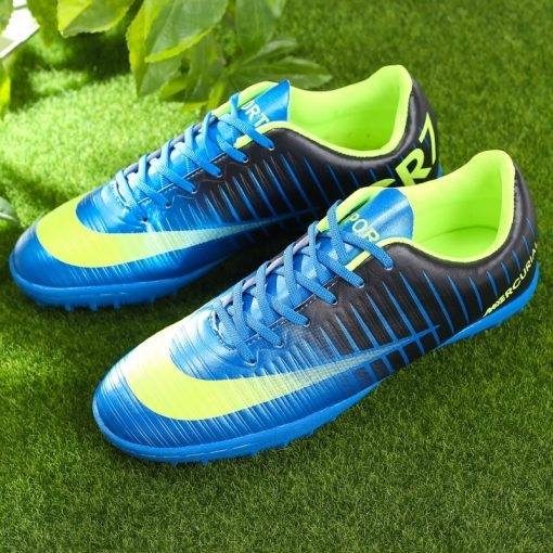 Popular Style Men s cr7 Soccer Shoes Turf Children Football Boots Lace Up Ronaldo Football Boots 4