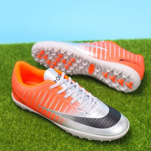 Popular Style Men s cr7 Soccer Shoes Turf Children Football Boots Lace Up Ronaldo Football Boots 5