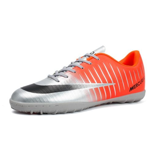 Popular Style Men s cr7 Soccer Shoes Turf Children Football Boots Lace Up Ronaldo Football Boots