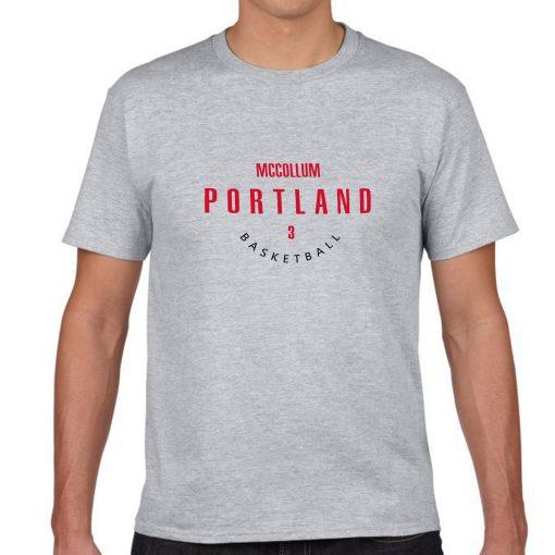 Portland Trail Blazers Number 3 C J McCollum 2019 best selling New men s COTTON Short