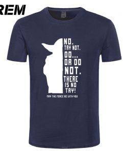 REM New Star Wars Master Yoda Men T Shirt Summer Short Sleeve Cotton Do Or Not