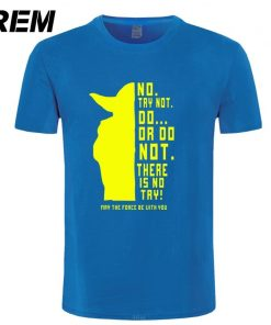 REM New Star Wars Master Yoda Men T Shirt Summer Short Sleeve Cotton Do Or Not 3