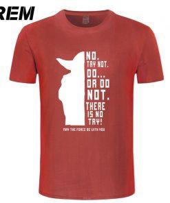REM New Star Wars Master Yoda Men T Shirt Summer Short Sleeve Cotton Do Or Not 7