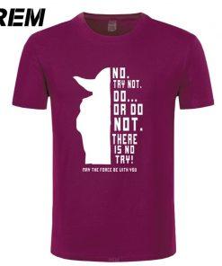 REM New Star Wars Master Yoda Men T Shirt Summer Short Sleeve Cotton Do Or Not 8