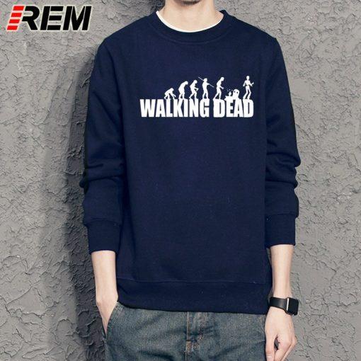 REM brand evolution walking dead dunk Sweatshirts cotton men long sleeve boy casual homme Hoodies tops 1
