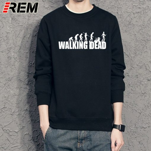 REM brand evolution walking dead dunk Sweatshirts cotton men long sleeve boy casual homme Hoodies tops 2