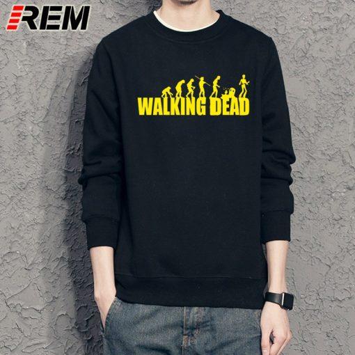 REM brand evolution walking dead dunk Sweatshirts cotton men long sleeve boy casual homme Hoodies tops 5
