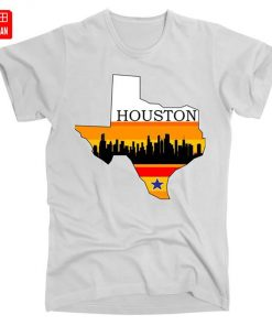 Retro Houston Texas Baseball Throwback T Shirt astro Baseball Houston Flag Skyline Big City Texas Houston 1