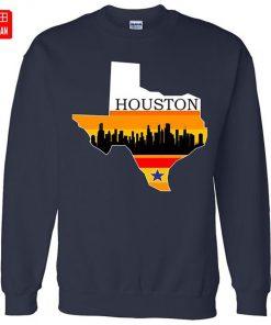 Retro Houston Texas Baseball Throwback T Shirt astro Baseball Houston Flag Skyline Big City Texas Houston 2