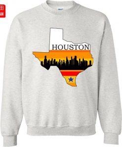 Retro Houston Texas Baseball Throwback T Shirt astro Baseball Houston Flag Skyline Big City Texas Houston 3