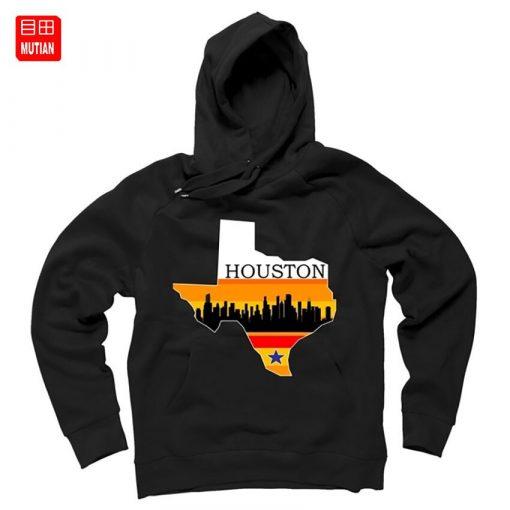 Retro Houston Texas Baseball Throwback T Shirt astro Baseball Houston Flag Skyline Big City Texas Houston 4