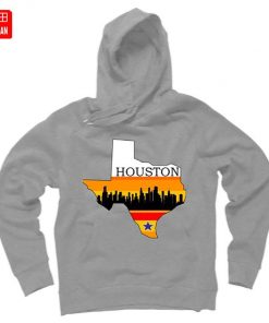 Retro Houston Texas Baseball Throwback T Shirt astro Baseball Houston Flag Skyline Big City Texas Houston 5