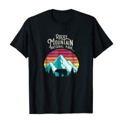 Retro Rocky Mountain National Park Colorado Bear T Shirt