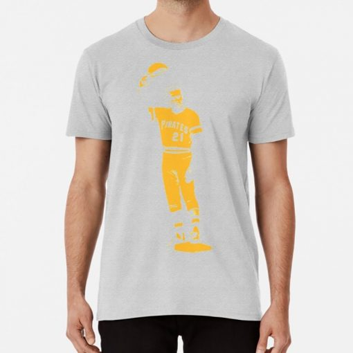 Roberto Clemente Arriba Yellow Stencil T Shirt Roberto Clemente Stencil Pittsburgh Spring Training Pirates