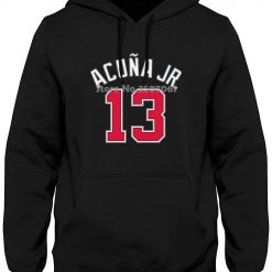 Ronald Acuna Jr Atlanta 13 Braves Youth Player Name Number Navy long sleeve gym jogger winter