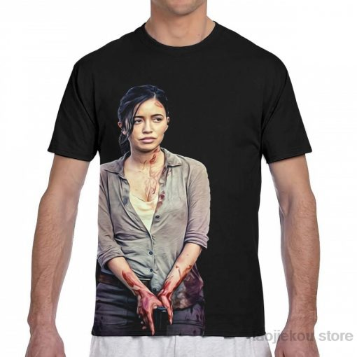 Rosita The Walking Dead men T Shirt women all over print fashion girl t shirt boy
