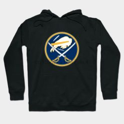 Sabres Buffalo Logo Mashup by phneep Streetwear men women Hoodies Sweatshirts