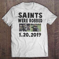 Saints Were Robbed 1 20 2019 New Streetwear Harajuku Orleans 100 Cotton Men S Tshirt Saints