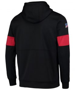 San Francisco MEN football Sweatshirt 49ers 100th Sideline Team Logo Performance Pullover Hoodie Black 2