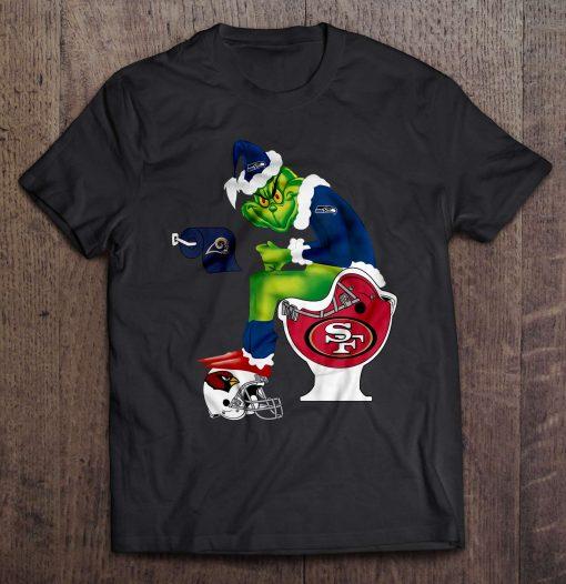 Seahawks Sitting On San Harajuku Francisco Men S Tshirt 49Ers Toilet And Step On Arizona Harajuku