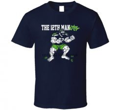 Seattle 12TH Man Seahawks Defense Football T Shirt 1