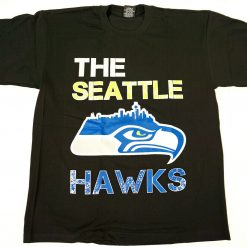 Seattle T Shirt Seahawks Football Tee Mens Medium Black New