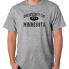 Short Sleeve T Shirt Usa State Property Of Minnesota