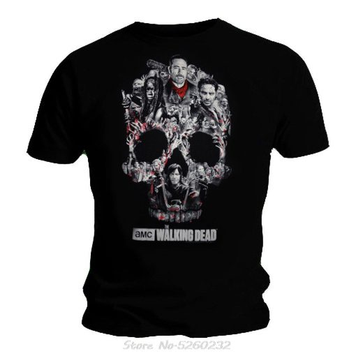 Short Sleeve Tshirt Fashion Zombies The Walking Dead Negan Tee T shirt For Men s Size