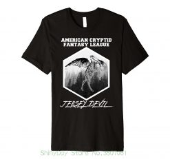 Short Sleeves New Fashion T Shirt Men Clothing Cryptid Fantasy League Jersey Devil Legend Novelty Shirt