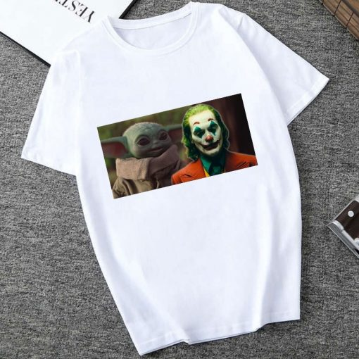 Showtly 2019 Cool STAR WARS Men Women Clown Cute Tiny Yoda Kids Printed T shirt Fantastic 2