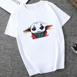 Showtly 2019 Cool STAR WARS Men Women Clown Cute Tiny Yoda Kids Printed T shirt Fantastic