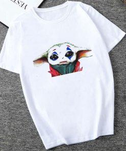 Showtly 2019 Cool STAR WARS Men Women Cute Tiny Yoda Kids Printed T shirt Fantastic Mandalorian 1