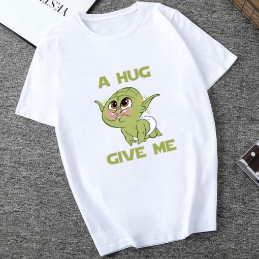 Showtly 2019 Cool STAR WARS Men Women Cute Tiny Yoda Kids Printed T shirt Fantastic Mandalorian 3