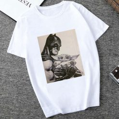 Showtly 2019 STAR WARS Men Women Cute Tiny Yoda Kids Printed T shirt Fantastic Mandalorian Baby 1