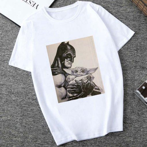Showtly 2019 STAR WARS Men Women Cute Tiny Yoda Kids Printed T shirt Fantastic Mandalorian Baby 1