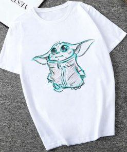 Showtly 2019 STAR WARS Men Women Cute Tiny Yoda Kids Printed T shirt Fantastic Mandalorian Baby 3