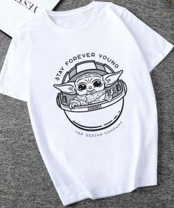 Showtly 2019 STAR WARS Men Women Cute Tiny Yoda Kids Printed T shirt Fantastic Mandalorian Baby 5