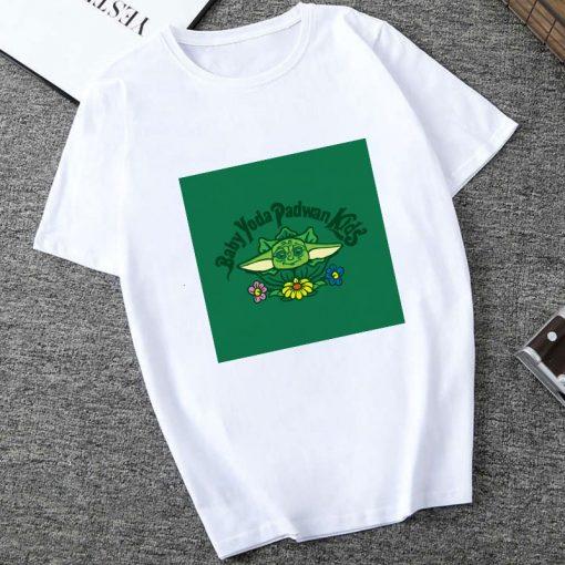 Showtly 2019 STAR WARS Slurp Men Women New Cute Tiny Yoda Printed T shirt Lady Fantastic 1